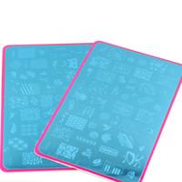네일 스탬프 플레이트 4PCS / lot 스탬프 이미지 플레이트 네일 아트 스탬프 DIY 이미지 플레이트 템플릿 5.7 * 3.5Inch CF