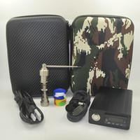 Mini Titanium Dab Nail E Dab Nail Box kit elettrico Strumenti Dabber PID Temperature Controller 10 14 18 MM femmina Mini E Dab nail