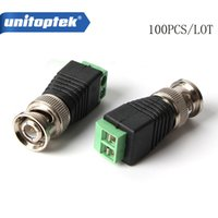 100Pcs lot Mini Coax CAT5 To Camera CCTV BNC Video Balun Con...