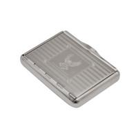 1 X boîte de tabac à cigarettes en métal en acier inoxydable pour 95MM cas de stockage de papier à cigarettes peut personnaliser votre logo