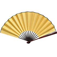 """10 """"8"""" grand bricolage plaine blanc pliant main ventilateurs adultes beaux-arts programmes de peinture Chine soie tissu hommes main ventilateurs de mariage décoratifs"""