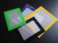 Silicone wax pads dry herb mats 14cm*11. 5cm or 11cm*8. 5cm sq...