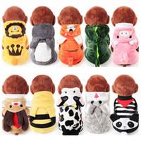 Günstigstes Multi-Choice Soft Coral Fleece Winter Hundebekleidung Pyjamas Overall für Hunde Hunde Overall für Hunde CAH035