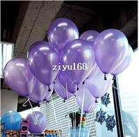 Envío Gratis 100 pc / Lot 10 'Inch1.5g Luz Púrpura Globos de Decoraciones de Boda Feliz Cumpleaños Globos de Navidad Favores de Fiesta