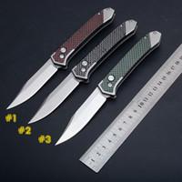 3 Renkler Yeni oto matik bıçaklar Taktik Bıçak 8cr13 Taş Yıkama Blade Karbon Elyaf Kol Açık Kamp Yürüyüş EDC Cep Bıçaklar