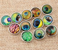 peacock peafowl feather diy snap button 12mm snap button jel...