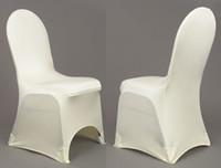 Della Promozione: spandex bianco con un frontale Arco Banchetto di Lycra Copertura della sedia 100PCS con trasporto libero
