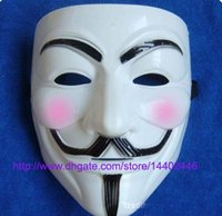 500 pcs cara fawkes V vendetta team rosa cicatriz de sangue máscaras de máscaras de carnaval do Dia das Bruxas Máscara de V máscaras para o atacado, navio livre