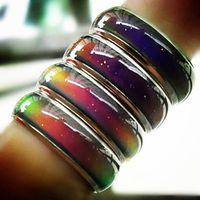 100PCS مزيج الحجم مزاج الدائري تغييرات اللون إلى درجة حرارتك تكشف العاطفة الداخلية الخاصة بك الأزياء والمجوهرات رخيصة HJ164