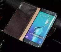 삼성 S6 가장자리 플러스 케이스 커버에 대한 뜨거운 판매 삼성 갤럭시 S6 가장자리 플러스 정품 스탠드 럭셔리 다채로운 플립 지갑 가죽 케이스