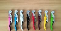 Personalizza logo tascabile tascabile utensile in metallo sughero vite cavatappi a cavatappi multifunzione rosso bottiglia di vino rosso