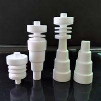 10PCS M / F Céramique 6 en 1 Domeless Nail 10mm / 14mm / 18mm en stock