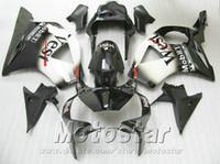 Stampaggio a iniezione 7 regali + Fit per Honda cbr900rr carenature 954 02 03 CBR954RR bianco nero West carena kit CBR900 RR 2002 2003 YR53