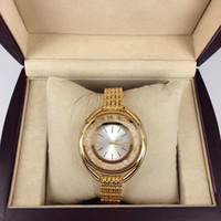 2017 Luxury gold women watch Fashion lady dress watch with r...