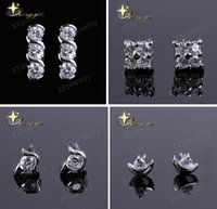 2015 Silver Earrings For Women Shining Swarovski Element Cry...