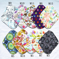 [Sigzagor] اللباس الداخلي بطانة صغيرة قابلة لإعادة الاستخدام وقابل للغسل بامبو القماش وسادة 8INCH القماش الحيض الأمومة ماما وسادة ، 18 خيارات
