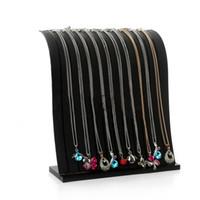 High-end de duas cores 12 cabines de acrílico transparente colar de pingente de suporte de exibição suporte de exibição de jóias