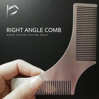 Hot Right Angle Comb Beard Shaping Shaving Brush Sexy Man Ge...