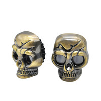 2 Layers Silver Tone Plastic Alloy Skull Shaped Herb Cigarette Tobacco Smoking Grinder Storage Compartment Free Drop Shipping