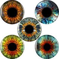 diseño del ojo para el túnel libre tapones para los oídos piercing calibradores joyería del cuerpo envío gratis joyería de acrílico negro