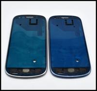 10 adet / grup Orijinal Yeni Ön Yüz Plaka Çerçevesi LCD Tutucu Çerçeve Konut Samsung Galaxy S3 Mini GT-I8190 Mavi Gümüş Ücretsiz Kargo