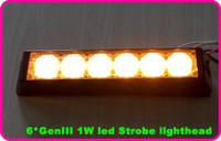 Spedizione gratuita! L'alta qualità 6W ha condotto la luce del flash dell'automobile, lighthead stroboscopico, luce d'avvertimento dell'automobile, luce della griglia, luce di emergenza, 22 flash, impermeabili