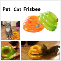 2017 New Three Levels Tower Tracks Disco Cat Pet Toy Intelligence Amusement Rides Scaffale per Cute Cat