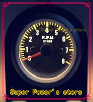Cara de fibra de carbono TORNEIRA DE PRATA Tacômetro 0-8rpm Gauge / Auto gauge / tacômetro / Medidor de carro