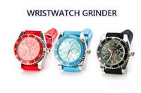 1ピースのファッションクラシック2つのグラインダーで本当に見るタバコグラインダーをおすすめハーブグラインダーゴム腕時計安い卸売61013