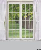 Freeshipping 10x10ft الزفاف الخلفيات خلفية نافذة بيضاء والستائر القطن خلفية خلفية داخلي سلس قابل للغسل الأطفال