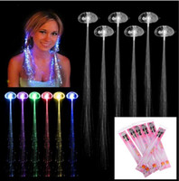 Led Haar Flash Braid Haar Dekoration Fiber Luminous Braid für Halloween Weihnachten Geburtstag Hochzeit Party Urlaub Weihnachtsgeschenk Licht haar