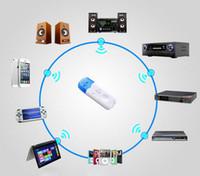 무료 DHL iphone4 5 6에 대 한 새로운 도착 뜨거운 판매 블루 무선 USB 블루투스 오디오 음악 수신기 어댑터 iphone6 참고 4 스피커 자동차