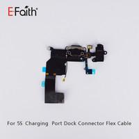 Port de charge de qualité supérieure avec câble Flex pour capteur pour iphone 5 pour réparation de téléphone avec livraison gratuite