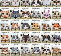 Новый кот глава портмоне 3D характер животное Мяу звезда люди молния карты ключ кошельки кошелек косметический мешок мультфильм сумка
