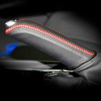 فرملة اليد غطاء القضية لبيجو 508 جلد طبيعي فرملة اليد غطاء تطول ناحية الخياطة السيارات الداخلية الديكور سيارة التصميم
