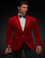 Wholesale - Groom Suits In Red Satin Custom Made Groom Tuxed...