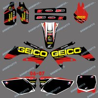 0157 Red &Black New Style TEAM GRAPHICS & BACKGROUNDS DECALS...