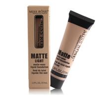 미스 로즈 매트 빛 액체 재단 매트 - 착용 영양 메이크업베이스 37ml 전문 얼굴 메이크업 제품