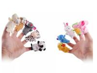 Doigt animal doigt marionnette bébé enfants peluche jouets dessin animé enfants favoriser des marionnettes pour histoires d'henddies enfants cadeau de Noël enfant