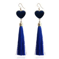 Fashion length 10cm Heart Tassel Dangle earrings for women L...