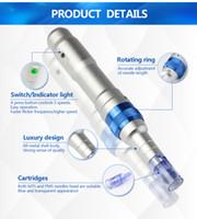 Auto Electric Derma Pen Dr.Pen A6 5 Hastigheter 12 Nålpatron Micro Needle Spa Anti-Aging Hud Therapy