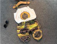 Kids Clothes ragazze vestiti di Natale Set 2015 nuovo Boho cotone spalla-strapsTop camicetta + pattern geometrici brevi Ragazze Outfits