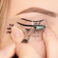 Toptan Satış - Toptan 2adet Yeni Eyeliner Kartı Yardımcı Araçlar Eyeliner Kaşlar Şablon Şablonlar Makyaj Makyaj bir Paupiere DIY Pochoir Kartı Fard
