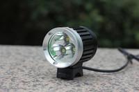 (1piece / 로트) 3800LM 3T6이 전조등 3 * 크리어 XM-L의 T6를 사용하고 4 모드 LED 자전거 라이트 전조등 자전거 라이트 키트 LED