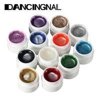 Neue Ankünfte 12 Flaschenmix Farben Nail Art Glitter UV Gel Builder Polnisch Set für Acryl Nägel Kunst Dekorationen Zufälliges Senden