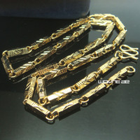 Catena del collegamento cubana della collana della collana del collegamento cubana della donna dei mens di oro 18 carati con la catena della collana 50cm L N298