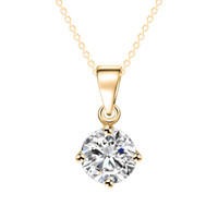 Colgante, collar, plata, chapado en oro, medallón, collares, piedras preciosas de diamantes, joyería de moda, collares de oro