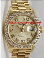 Relojes de lujo Reloj de pulsera Lady's Lady's Watch 69138 Diamond Dial-Diamond Bezel 18K Yellow Gold Reloj automático Mujeres Relojes de moda