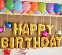 16 дюймов милый серебристый / золотой алфавит A-z фольга буквы № 0-9 воздушные шары Новый год день рождения свадебные украшения любовь баллон