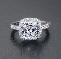 US GIA сертификат Sona Diamond Drill три поколения IJ цвет 3 караты платиновые стерлинговые серебряные женщины свадьба или обручальное кольцо